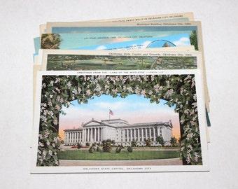 10 Vintage Oklahoma City Postcards Blank - Wedding Guestbook