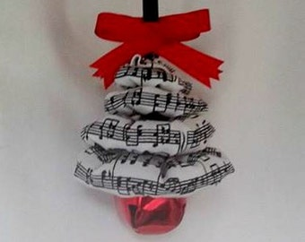 Music Notes Christmas Tree Ornament - Perfect for any Music Lover