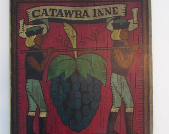 Vintage Catawba Inne Sign Architectural Salvage