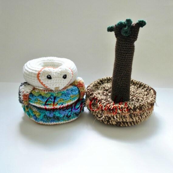 Crochet Pattern, Barn Owl Nest Stacking Rings From EkayG