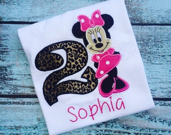 Minnie Mouse Inspired Birthday Shirt