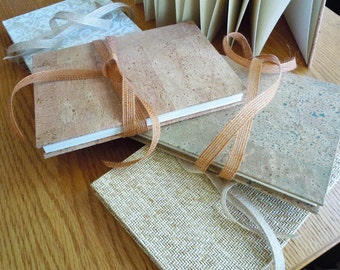 """5""""x7"""" Double Length Textured Natural Weave Accordion Fold Albums or DIY Guest Books"""