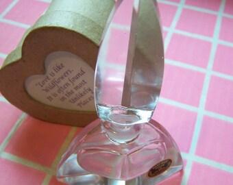 """Vintage 60's  """"ArT DeCo PERFUME BOTTLE""""  Thick Cut Glass Perfume Bottle"""