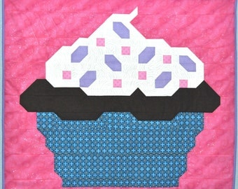 Cupcake baby Quilt PATTERN in PDF format with insturctions for 3 sizes