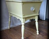 Yellow Cottage Nightstand Side Table