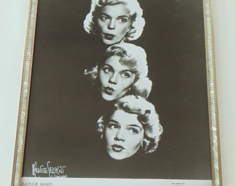 The TAYLOR MAIDS Beverly Patti & Shirley Maurice Seymour Print In Frame 1950's Girl Pop Singers