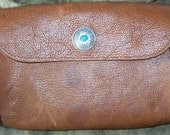 Brown turquoise belt/hip bag