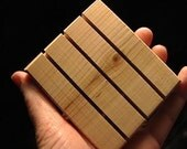 """SQUARE PINE  or CEDAR Wooden Soap Dish 