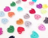 Crochet Tiny Hearts Garland