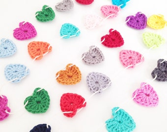 Crochet Tiny Hearts Garland