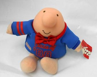Vintage ZIGGY stuffed toy Class of 1987 Graduation gift 1988 graduation with tags stuffed toy Ziggy comic character