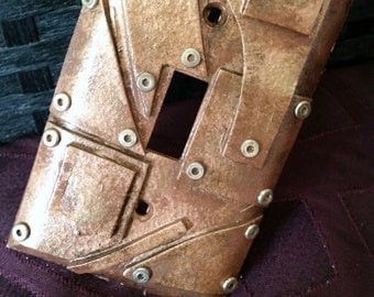 Bronze Layers Steampunk Light-switch Plate