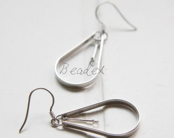 2 Pieces (One Pair) / 925 Sterling Silver / Fish Hooks / Earring Hooks / Earring Findings Components (PY3611//M515)
