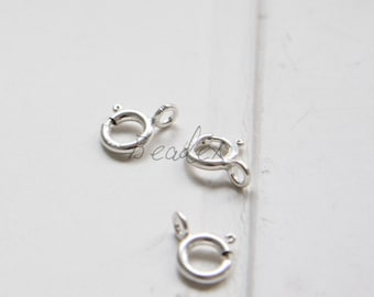 One Piece / S925 Sterling Silver / Lobster Clasp / Spring Clasp 7mm (233//M517)