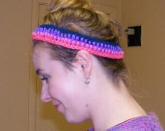 Crocheted yoga headband
