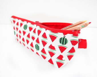 Last one! Zippered Pencil Case / Pouch - Watermelon