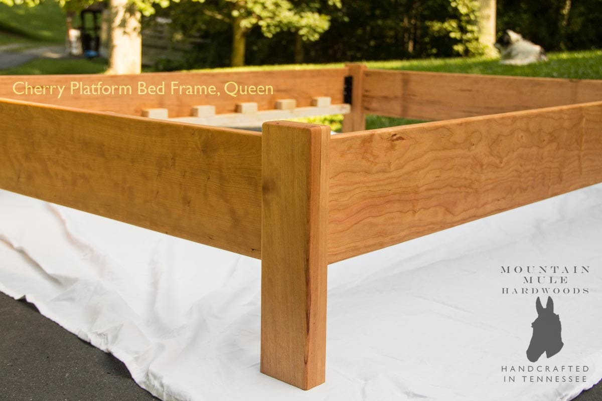 Simple Queen Size Platform Bed Frame by MountainMuleHardwood