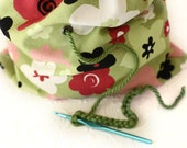 Single yarn bag - crochet or knitting project bag - yarn storage bag - on the go crochet or knitting tote with drawstring