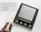 Double ENGRAVING upgrade for metal mail holders: customize, personalize it