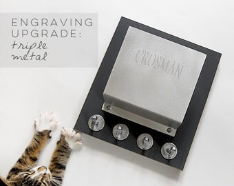 Triple ENGRAVING upgrade for metal mail holders: customize, personalize it