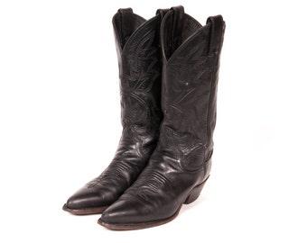Women's Black COWBOY Boots Size 5 .5 B