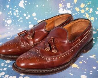 ALAN MCAFFEE Tassel Loafers Men's Size 11 .5