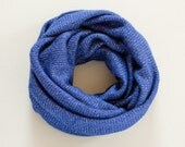 Royal Blue Infinity Scarf Chunky Wool Scarf Jersey Knit Scarf Womens Scarves Cowl Scarf Circle Scarf