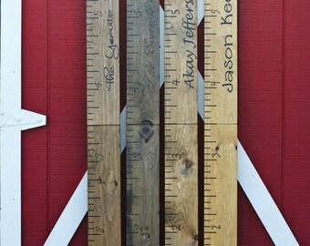 Giant Ruler. Giant Wooden Growth Chart. HAND PAINTED. Growth Chart. Childrens Growth Chart. Rustic Home Decor. Childrens Giant Ruler.