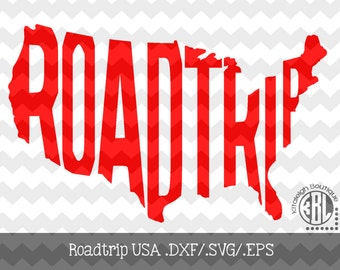 Roadtrip-USA Decal Files (.dxf/.svg/.eps)  for use with your Silhouette Studio Software