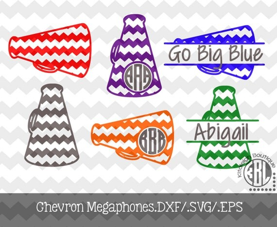 Chevron Megaphone Designs .DXF, .SVG, .EPS Files for use with your ...