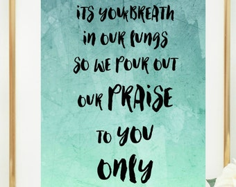 All sons and daughters lyrics. Great are you lord. It's your breath in our lungs
