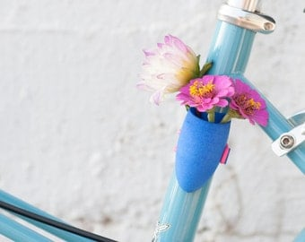 Cobalt Blue Bike Planter