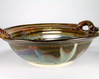 Large brown bowl