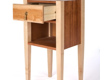 Custom Night Stands, Made to Order, Walnut and Maple