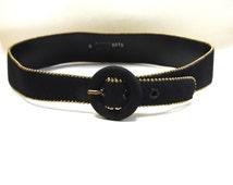 Black Gold Metal Belt Size S Small Waist Cinch