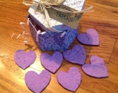 CLEARANCE SALE! 25% OFF! Purple Pansy Seed Paper Gift Box