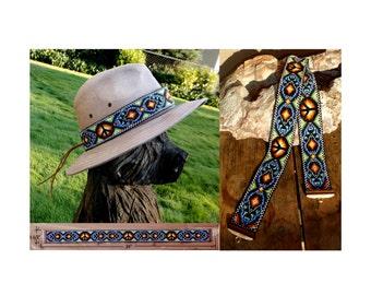 Loom Beaded Peace Sign Hatband No.4
