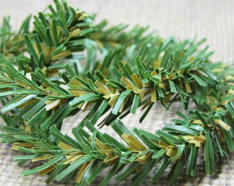 Canadian pine mini garland DIY 12 inch wire roping miniature christmas & holiday decoration fits 1:12 scale one inch  and 1/6 playscale