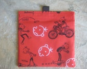 TRY ME SALE - One Bag for 2.20 - Reusable Sandwich Bag or Snack Bag with easy open tabs-Diary of a Wimpy Kid