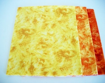 Fat Quarter Fabrics Bundle, 4 Choice Fabrics, The Gallery Collection, Quilting Sewing Fabric, Yellow, Orange, Accent Fabrics, Cotton