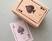 Ace of Spades  Playing Card  Wood Mounted Rubber Stamp 2178