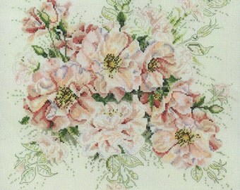 Garden Roses Cross Stitch Kit by Janlynn