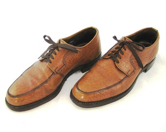 70s Mens Shoes Camel Skin Shoes Brown Shoes Mens Tan Dress Shoes Leather Shoes 1970s Lace Up Shoes Brown Leather Shoes Dacks Mens Shoes
