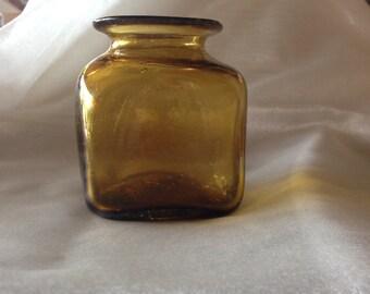 hand blown vintage glass jar