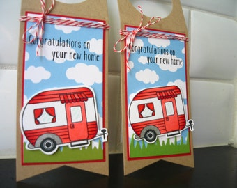 Wine Bottle Tag, Housewarming Card, Congratulations on your New House Card, Retirement Gift
