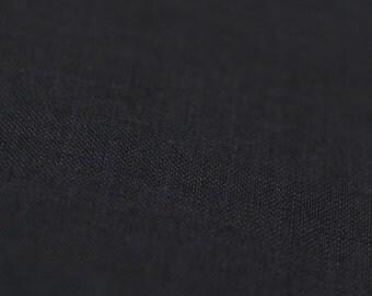 Black linen fabric by half yard