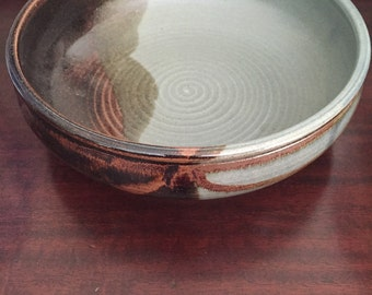 Signed pottery bowl