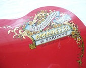 Romantic Vintage Red Heart Tin Container