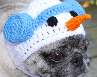Dog Hat - Frosty The Snowman - Carrot Nose - Made to Order