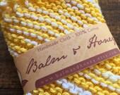 Lemonade, A House Helper, Dishcloth, Knit Dishcloth, Kitchen Cloth, Cloth, Cleaning